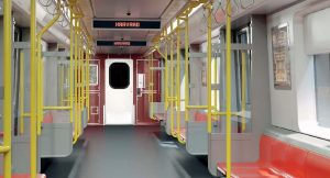 MBTA Red Line car inside